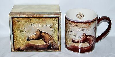 "Lang ""CHESTNUT BEAUTY HORSE"" 14 oz. Quality Ceramic Decor Coffee/Tea Mug ~ NEW"