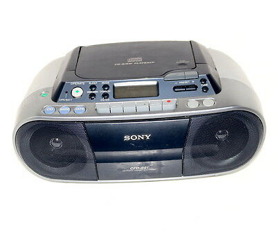 Sony CFD-S01 Radio-Tuner Kassettendeck CD-Player Tragbare Stereoanlage Ghetto