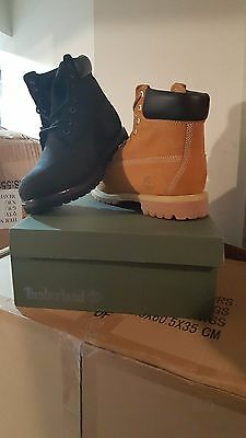 "TIMBERLAND MEN'S 6"" BOOTS Wheat/Black Sizes 7-7.5-8-8.5-9-9.5-10-10.5-11-12-13"