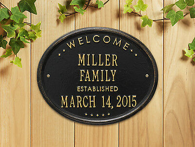 "Welcome Oval ""Family"" Established Personalzied Plaque"