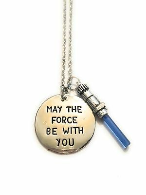 Star Wars Collana Guerre Stellari May The Force Be With You Spada Laser Darth