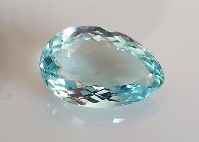 12.05 Carats All Natural Genuine Aquamarine Stone Pear Shape Cut 20X13 gemstone