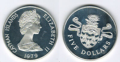 Cayman Islands. Proof 5 Dollars. Elizabeth II. 1979 FM