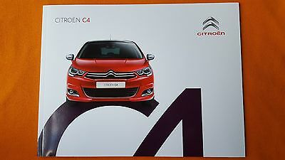 Citroen C4 Touch Flair Feel paper brochure sales catalogue August 2016 MINT C 4