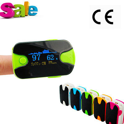 Fingertip Pulse Oximeter Blood Oxygen SpO2 PR Monitor OLED +Lanyard CE Green