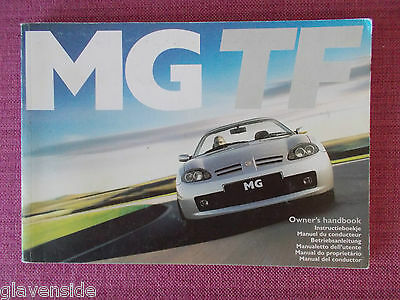 Mg Tf Owners Manual - Owners Guide - Owners Handbook. (Acq 4866)