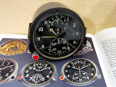 AChS-1 VINTAGE RUSSIAN AIR FORCE HELICOPTER MIG COCKPIT PANEL CHRONOGRAPH CLOCK