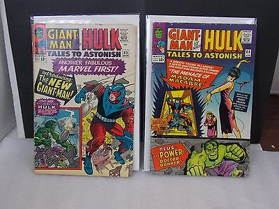 TALES OF SUSPENSE LOT of 2: silver age!!!  # 66 and 65  FN-  1965 AntMan & Hulk