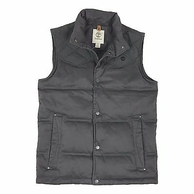 Timberland Men's Pilots Mountain Quilted Gray Down Vest A1CJH