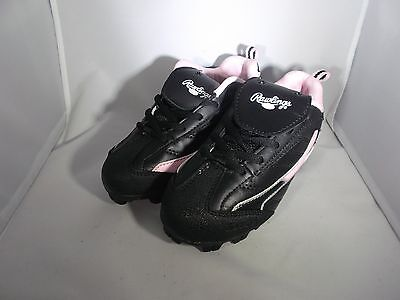 Youth Softball Cleats - Rawlings Fury Low - Black & Pink