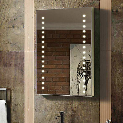 ENKI 400 x 600 Backlit Illuminated Bathroom Wall LED Mirror Vertical Horizontal
