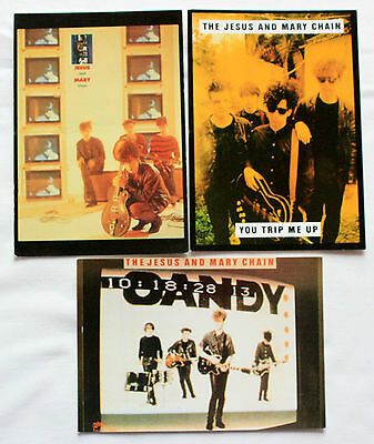 THE JESUS AND MARY CHAIN Postcards - 3 x Vintage Jesus and Mary Chain Postcards
