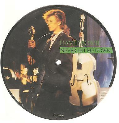 "DAVID BOWIE ""Never Let Me Down"" 2 Track Picture 7"" Vinyl Single"