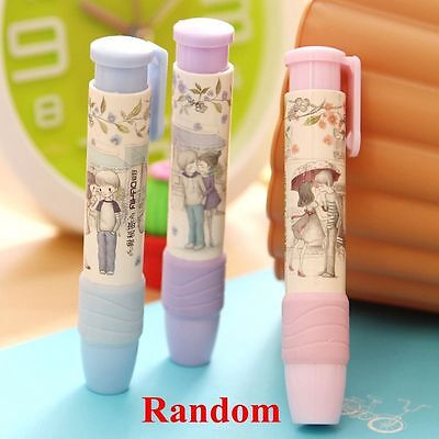 1 PC  Office Supplies Kids Student Eraser Pencil Rubber Stationery Pen Shape