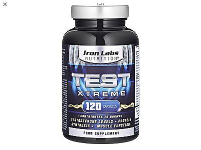 Test Xtreme: Testosterone Booster - Muscle Growth & Strength (120 Capsules)