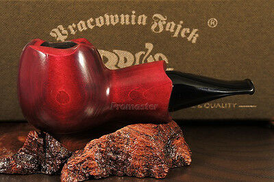 """Mr. Brog HAND MADE  WOODEN  SMOKING PIPE  no 52  """" Scoot """"   Red  + Filter"""