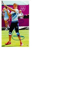 Olympic Silver 2012 London at Tennis Laura Robson original signed 10x15 photo.
