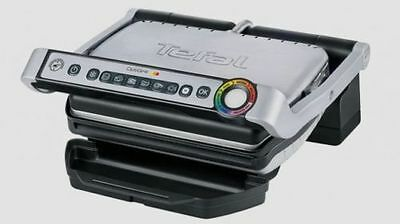 TEFAL GC713D40 Stainless Steel OptiGrill Plus Health Grill with Thickness & Temp