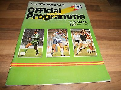 THE FIFA WORLD CUP 1982 OFFICIAL FOOTBALL PROGRAMME FRENCH EDITION Espana 82