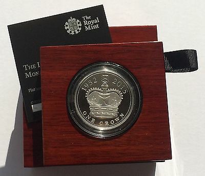 2015 Royal Mint Longest Reign Platinum Proof Piedfort Five Pounds Piece £5 RARE!