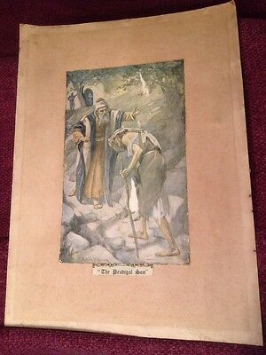 Old Antique Print The Prodigal Son By Harold Topping