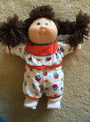 Cabbage Patch Kids Doll Brown Hair Green Eyes
