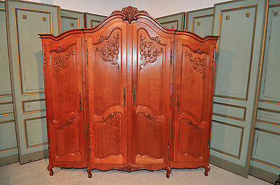 Antique French Oak Armoire Bedroom Furnishings Large Roomy Model Lots of Storage