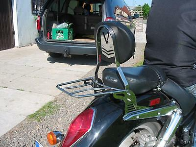 SISSY BAR PASSENGER BACKREST + LUGGAGE RACK HONDA VTX 1300 RETRO or CUSTOM