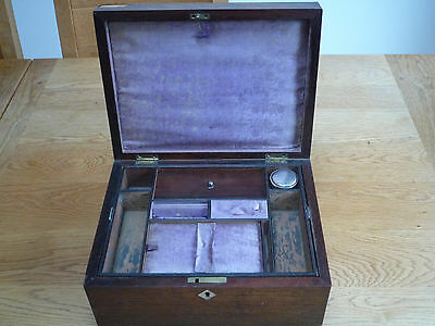 19th Century rosewood with mother of pearl Vanity Box