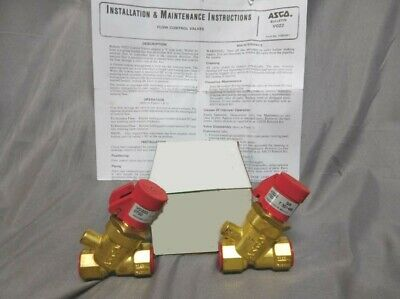 "(Lot of 2) ASCO ~ RED-HAT ~ 3/8"" FLOW CONTROL VALVE ~ PN: VO222 ~ (NEW)"