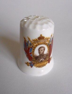 King Edward VIII Coronation Thimble 1937 Bone China Made in England