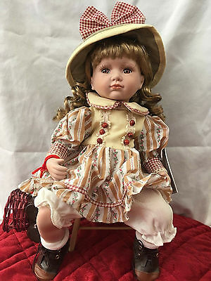 """18"""" Vanessa Ricardi Collection Porcelain Doll New Box 2005"""