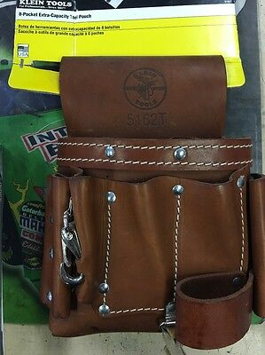 Klein 5162-T Eight Pocket Leather Tool Pouch