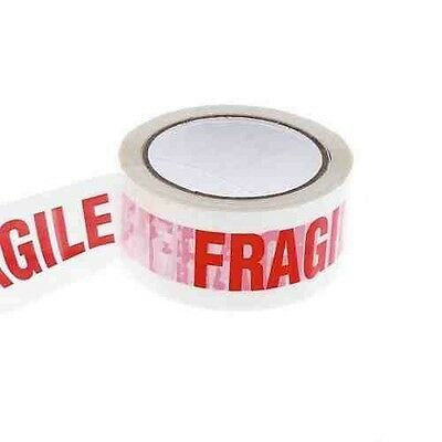 """NEWLow Noise 6 rolls of fragile printed tapes size 2""""X 66M"""