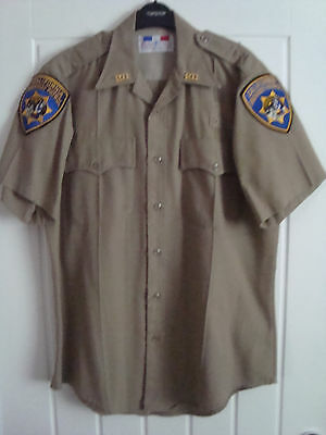 Vintage California Highway Patrol Officers Shirt Immaculate