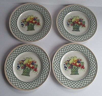 4X Villeroy & Boch Salad Plates  Basket Pattern  Nice Condition