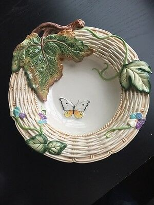 """Fitz And Floyd 3-D Classic Butterfly And Leaf Bowl - 11 1/2"""""""