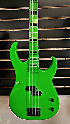 Dean Custom Zone 4-String Bass Guitar Nuclear Green