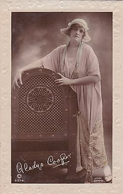 OLD POSTCARD GLAMOUR ACTRESS GLADYS COOPER HUMOUR 1910s FASHION FB70
