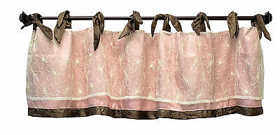 Daniella Window Stylish Classy Valance Curtain Pink Brown by Cocalo