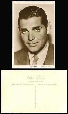 American Film Actor Mr Clark Gable The King of Hollywood Old Real Photo Postcard