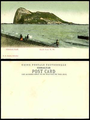 Gibraltar Old U.B. Colour Postcard The ROCK from N.W. North West Fisherman Coast