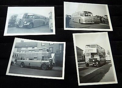 4 Black & White 1954-1957 Photographs of Culling & Son (Claxton) Buses