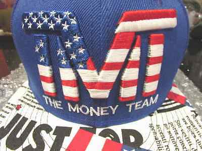 Rare TMT Floyd Mayweather SnapBack Cap in Blue USA special edition