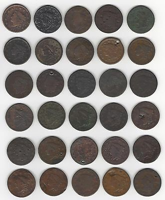 30 All Damaged Large Cents
