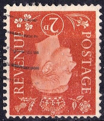SG465Wi 2d Orange. INVERTED Watermark. Light Cancel. Very Fine Example. CAT £22+