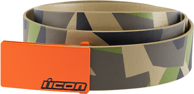 Icon Camo Deployed Polyurethane Belt With Cast Aluminum Buckle Choose Size