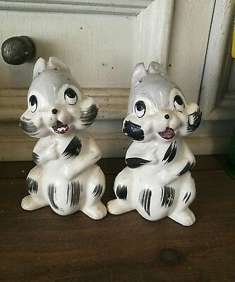 vintage salt and pepper shakers. Chipmunks!