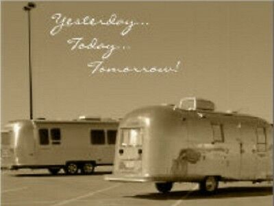 """~Post Card~""""Two RV's/Trailers /Yersterday,Today,Tomorrow/ (B-220)"""
