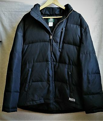 Men's size XL Roots down filled winter coat jacket black